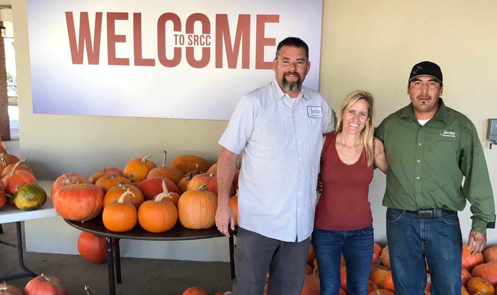 Pumpkin donations wildfire victims Santa Rosa