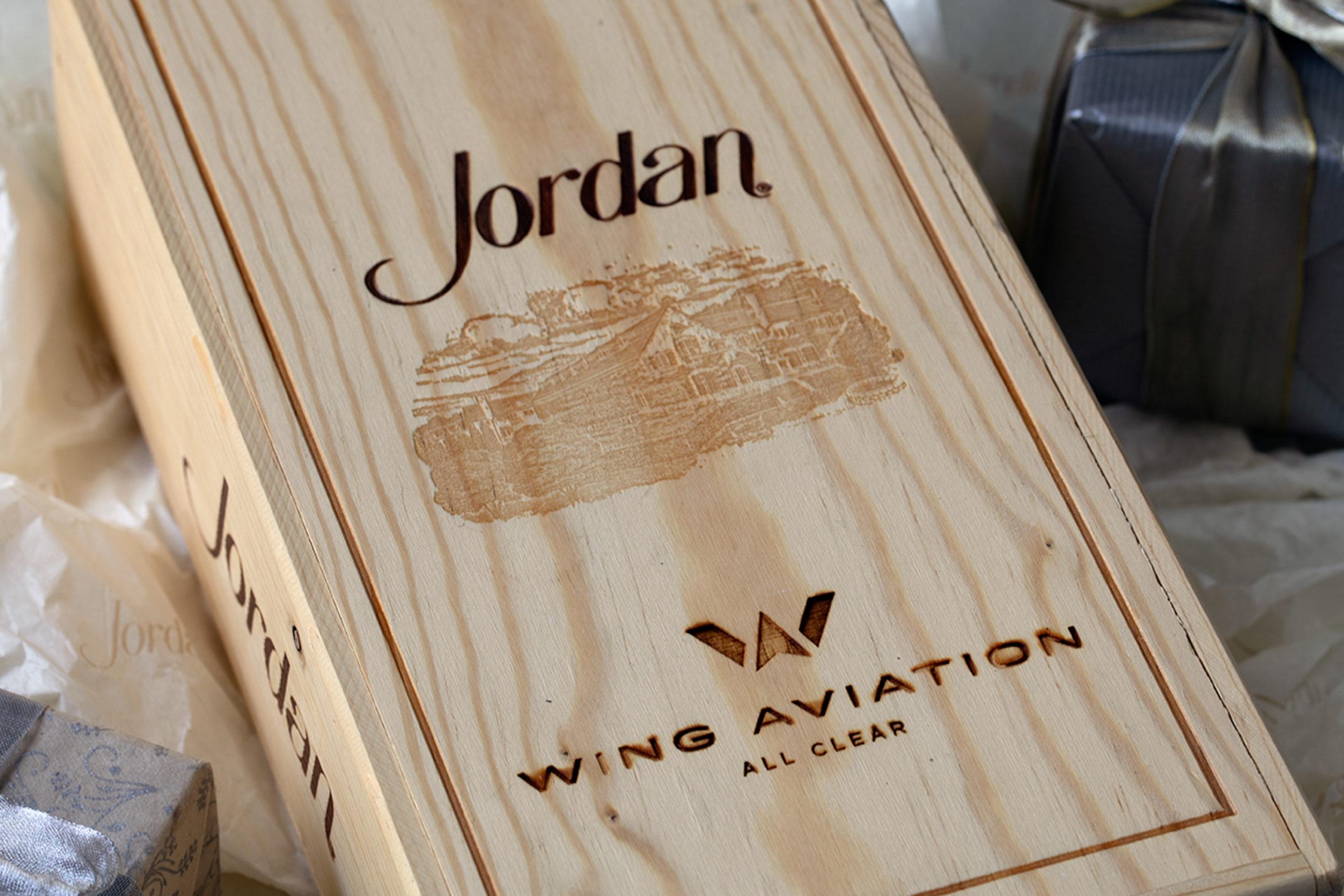 Branded wooden gift box